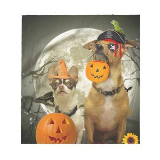 ハロウィンのチワワ犬 ノートパッド