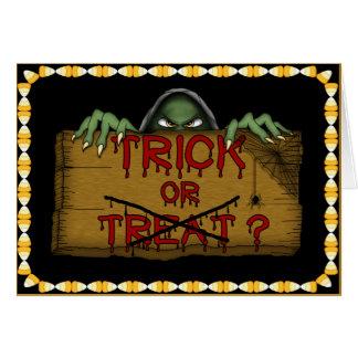 ハロウィンのトリック・オア・トリートの悪鬼 カード