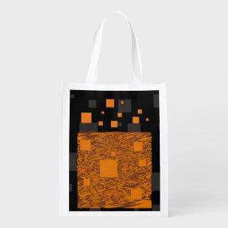 ハロウィンのトリック・オア・トリートの注意深いオレンジブラックボックス エコバッグ