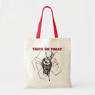 ハロウィンのトリック・オア・トリートキャンデーのバッグ-くものデザイン トートバッグ