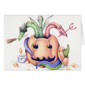 ハロウィンのドラゴンカード カード