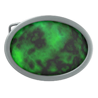ハロウィンのファンキーなネオン緑のエメラルドの抽象芸術 卵形バックル