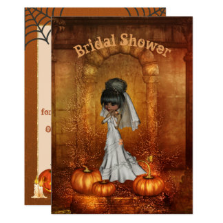 ハロウィンのブライダルシャワーの招待状 カード