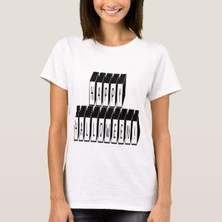 ハロウィンのブロックの文字 Tシャツ
