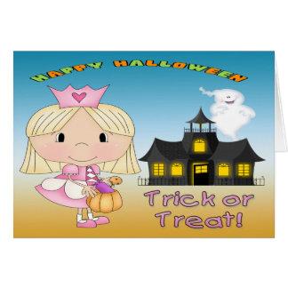 ハロウィンのプリンセスの挨拶状 カード