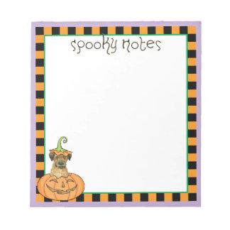 ハロウィンのボーダーテリア ノートパッド