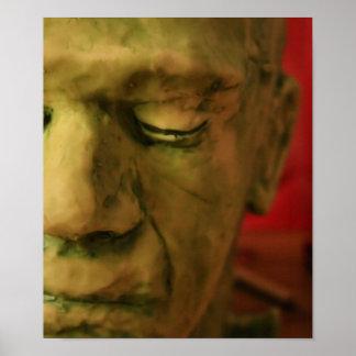 ハロウィンのマスクのプリント ポスター