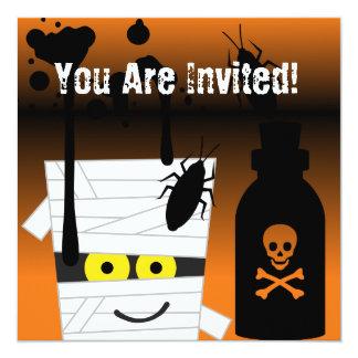 ハロウィンのミイラのパーティの招待状 13.3 スクエアインビテーションカード