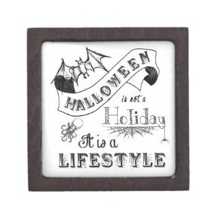 ハロウィンのライフスタイルのチョークの芸術 ギフトボックス