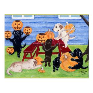 ハロウィンのラブラドール! ポストカード