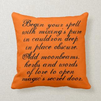 ハロウィンのリバーシブル、枕、オリジナル、詩、文字 クッション