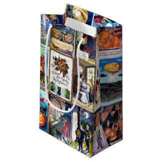 ハロウィンのヴィンテージの郵便はがき スモールペーパーバッグ