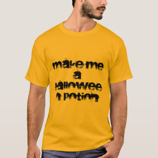 ハロウィンの一服の金ゴールドBASICのTシャツ Tシャツ