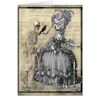 ハロウィンの仮面舞踏会 グリーティングカード
