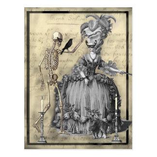 ハロウィンの仮面舞踏会 ポストカード