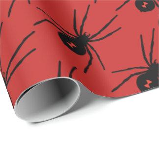 ハロウィンの休日の黒のくもはパーティーの覆いをタイルを張りました ラッピングペーパー