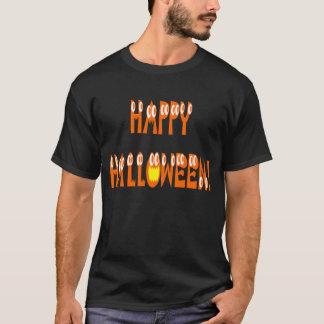 ハロウィンの南瓜の文字 Tシャツ