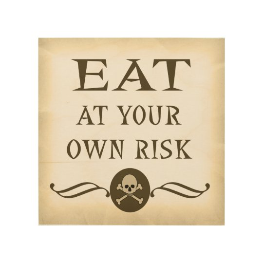 ハロウィンの印を自己の責任において食べて下さい ウッドウォールアート