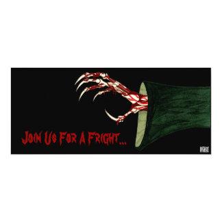 ハロウィンの厳格な招待の手 カード