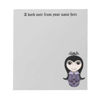 ハロウィンの名前入りな吸血鬼 ノートパッド