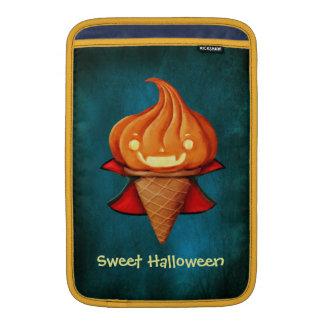 ハロウィンの吸血鬼のカボチャアイスクリーム MacBook スリーブ