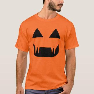 ハロウィンの吸血鬼のカボチャハロウィーンのカボチャのちょうちんのTシャツ Tシャツ