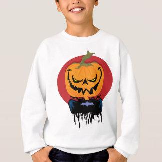 ハロウィンの吸血鬼のカボチャ スウェットシャツ