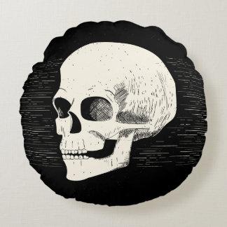 ハロウィンの図解入りの、写真付きのなスカル|の円形の枕 ラウンドクッション