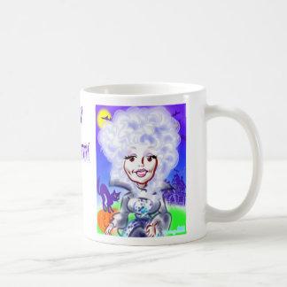 ハロウィンの女王の風刺漫画のマグ コーヒーマグカップ