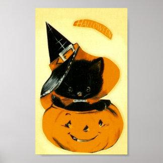 ハロウィンの子ネコ ポスター