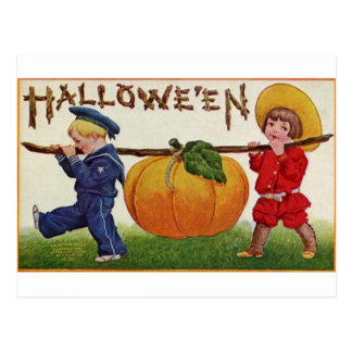 ハロウィンの子供 ポストカード