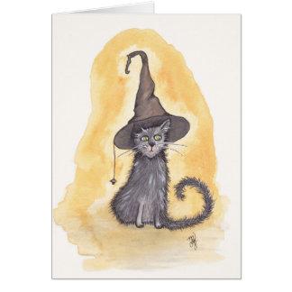 ハロウィンの子猫の魔法使い カード
