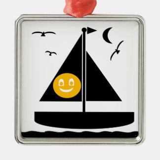 ハロウィンの帆 メタルオーナメント