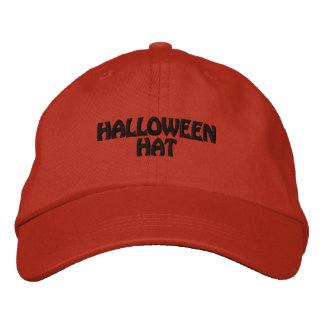 ハロウィンの帽子 刺繍入りキャップ