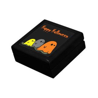 ハロウィンの幽霊のかわいいタイルのgiftbox ギフトボックス