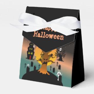 ハロウィンの幽霊のよく出るな木の好意箱 フェイバーボックス