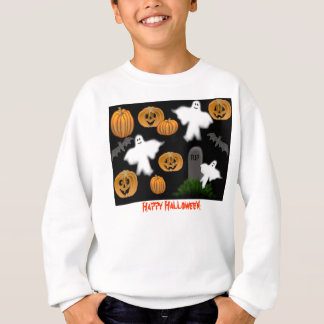 ハロウィンの幽霊のカボチャ子供のスエットシャツ スウェットシャツ