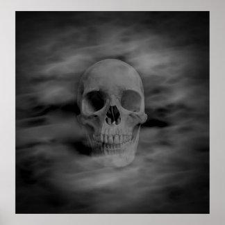 ハロウィンの幽霊のスカル ポスター
