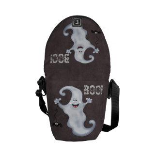 ハロウィンの幽霊のブーイング メッセンジャーバッグ