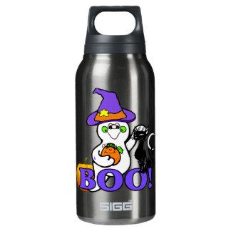 ハロウィンの幽霊のブーイング 断熱ウォーターボトル