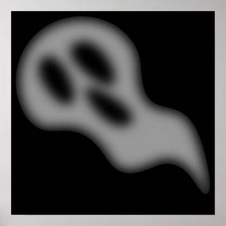 ハロウィンの幽霊の写真のプリント ポスター