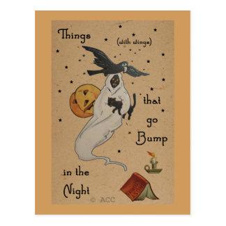 ハロウィンの幽霊の郵便はがき ポストカード