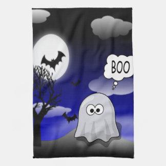 ハロウィンの幽霊 キッチンタオル