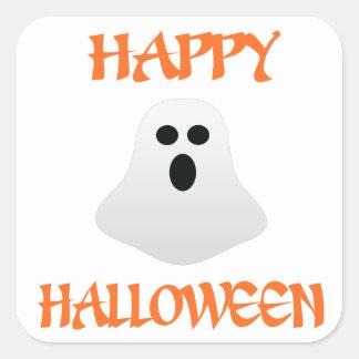 ハロウィンの幽霊 スクエアシール