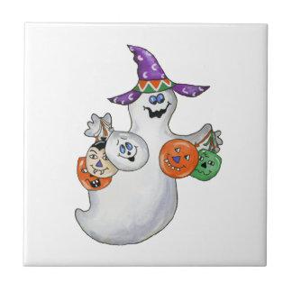 ハロウィンの幽霊 タイル