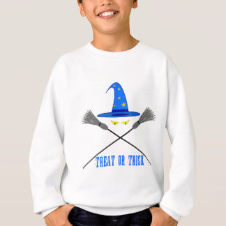 ハロウィンの御馳走かトリック スウェットシャツ
