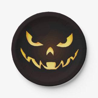 ハロウィンの恐い鬼のプレート ペーパープレート