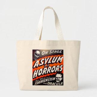 ハロウィンの恐怖のレトロのヴィンテージモンスターの保護所 ラージトートバッグ