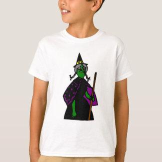 ハロウィンの悲しい緑の魔法使い Tシャツ