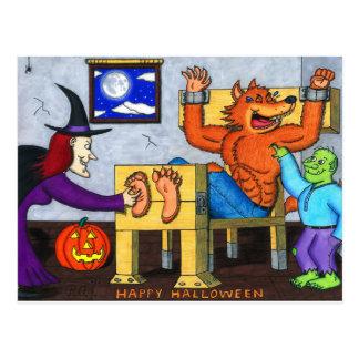 ハロウィンの扱いにくい狼人間 ポストカード